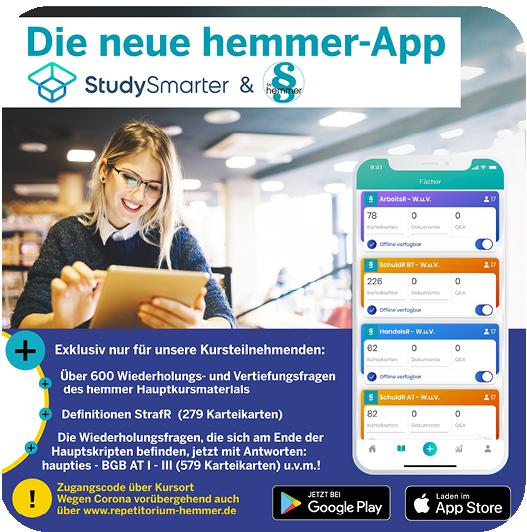 Die neue hemmer-App in Kooperation mit StudySmarter