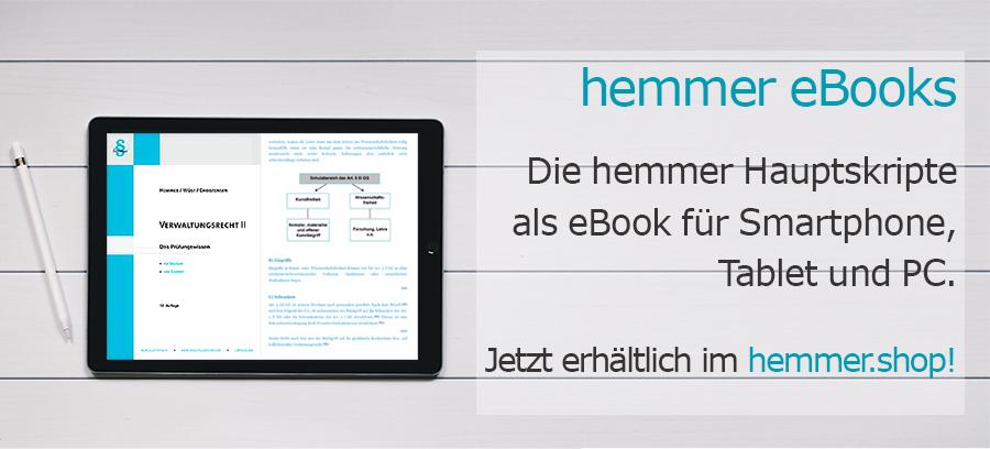 hemmer e-books - Lernen mit den digitalen Editionen der hemmer-Hauptskripte!